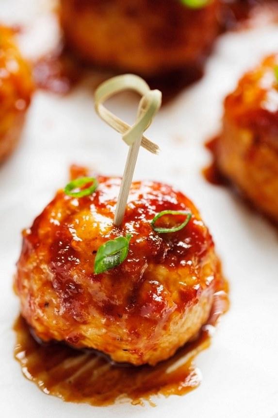 Hawaiian BBQ Chicken Meatballs Recipe   Little Spice Jar