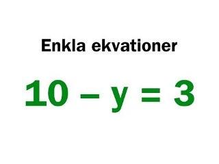 Enkla ekvationer - YouTube