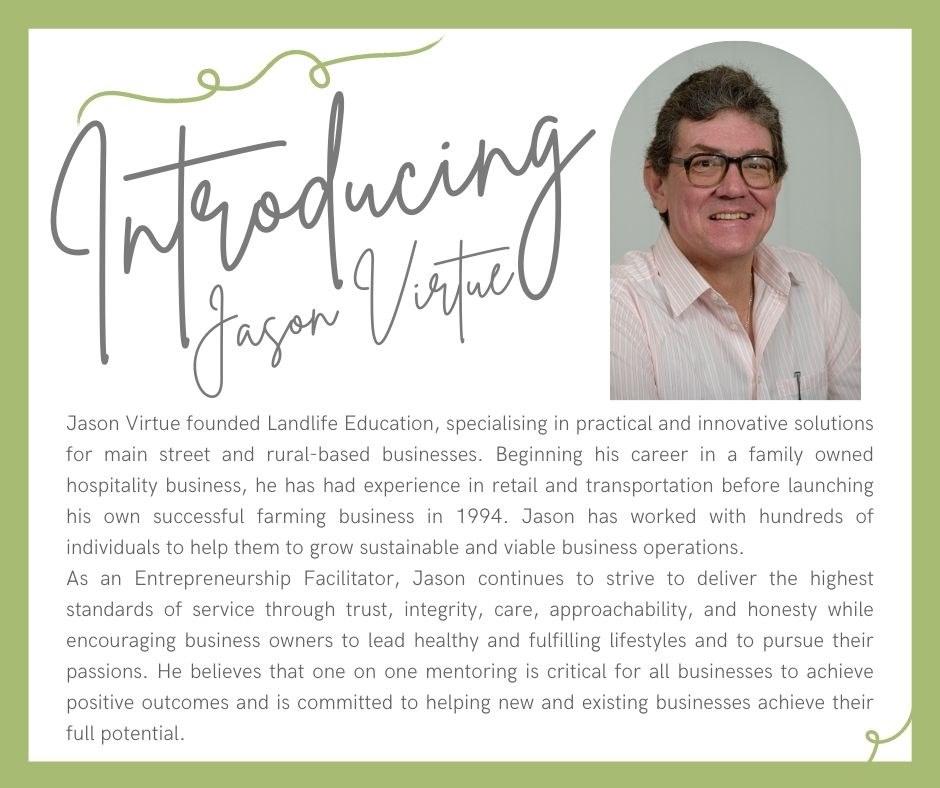 Jason Virtue  - Gympie Business LEAP Entrepreneurship Facilitator
