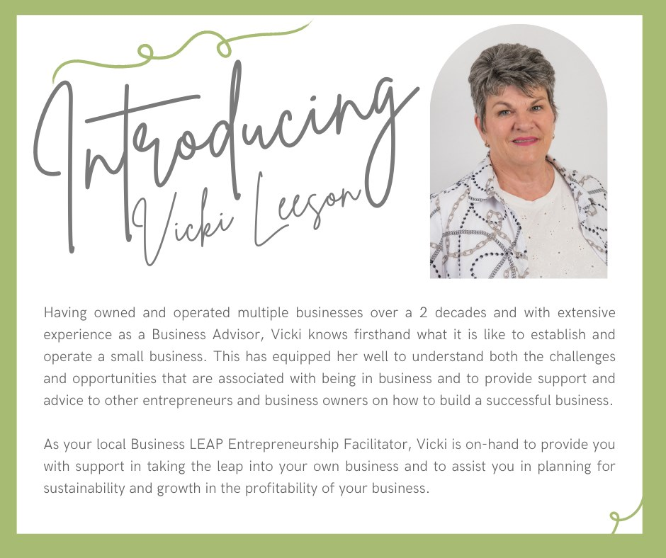 Vicki Leeson - Bundaberg Business LEAP Entrepreneurship Facilitator