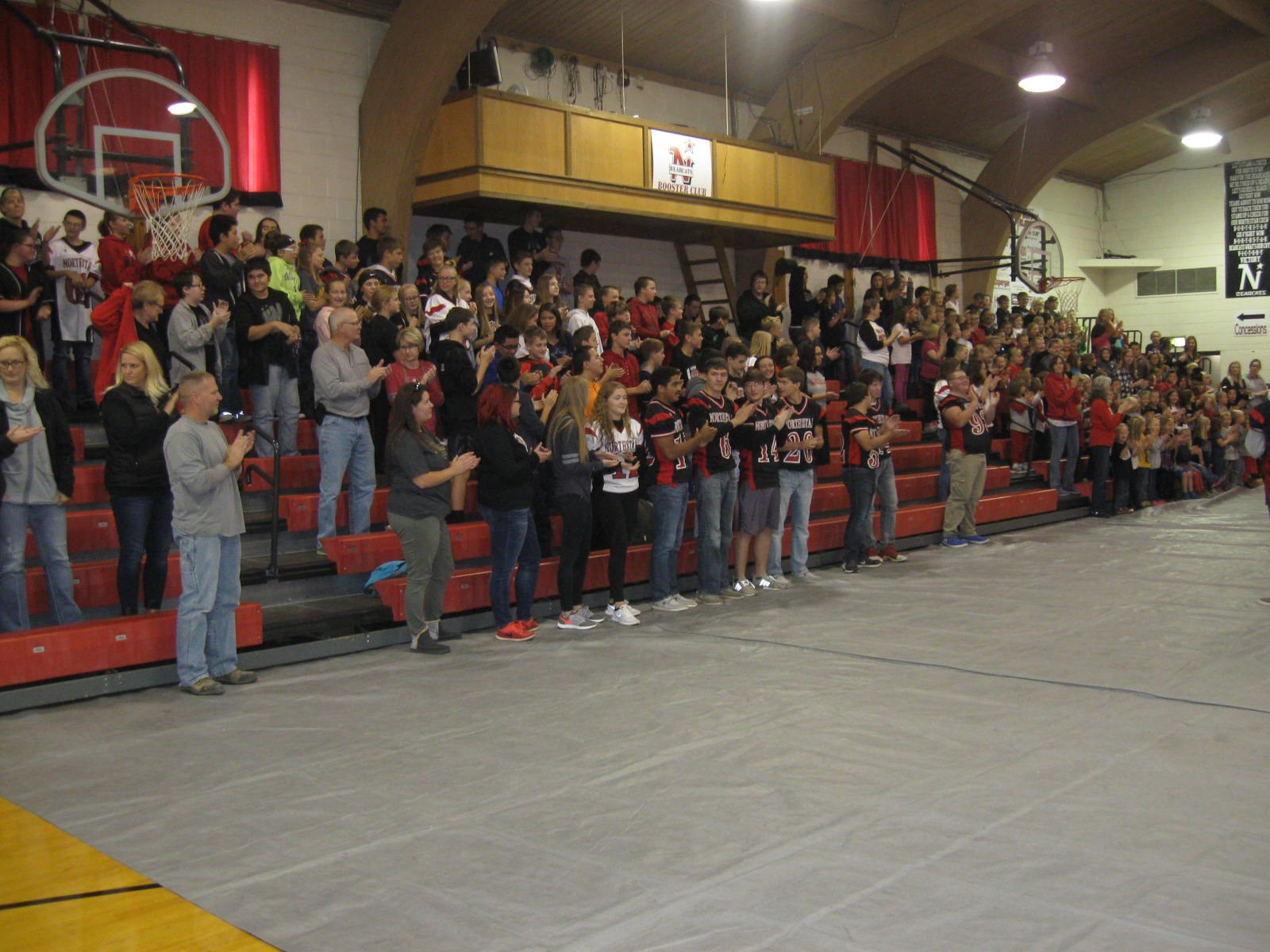 Crowd on their feet during Pep Rally